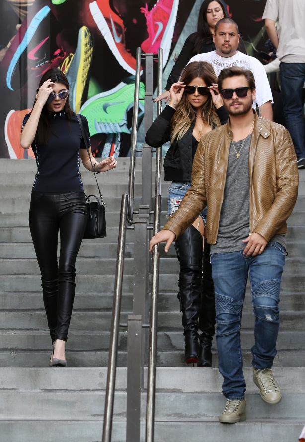 Khloe Kardashian and sister Kendall Jenner took Scott Disick to watch Rick Ross in concert