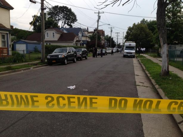 The body parts were found near Washington and Webb streets in Hempstead.