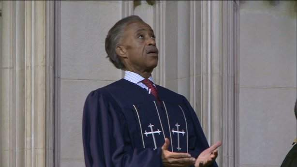 In a sermon on July 20, 2014, the Rev. Al Sharpton demanded justice for the arrest death of Eric Garner. (Photo: Ken Evseroff/PIX11)