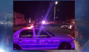A police officer was shot in Huntington Station early Thursday. (PIX11/James Sullinger)